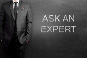 Ask an expert written on blackboard
