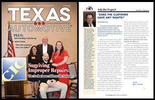 December 2019 Texas Automotive Magazine Robert L McDorman