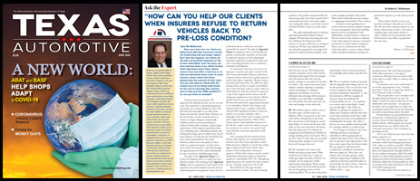 June 2020 Texas Automotive Magazine Robert L McDorman